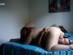 Fat girl has 69 and missionary sex with her skinny husband