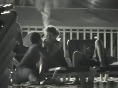 What a slut !!! partygirl lets 2 guys take turns on her at the beach !!!