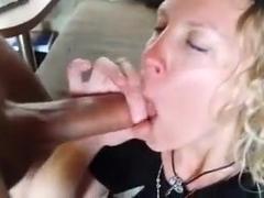 Pierced dick cum in mouth