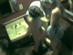 Pair receives drilled in disco club latrine