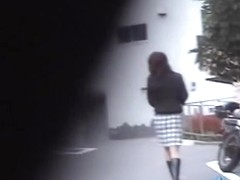 Fiery public sharking with enticing slag being caught off her guard