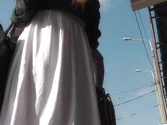 Gripping spy livecam up petticoat clip