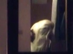 Fit blonde girl changing clothes voyeur videoed by the neighbor