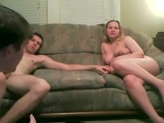 Swingers on webcam with pregnant wife