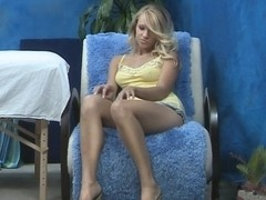 Young blonde pretty massagist