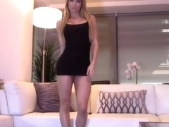 Hot mature woman in high heels masturbates to orgasm