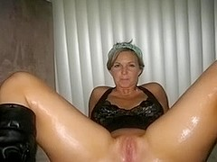 My hawt mother i'd like to fuck is looking outstanding when this honey greases up