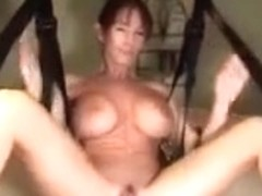 Older wench receives screwed whilst being suspended.