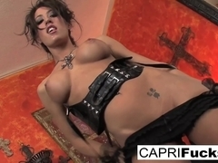 Capri Cavanni in Capri Shows Off Her Pretty Feet - CapriCavanni
