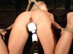 Sabrinka gets tied up and her pussy is teased