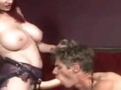 Man Pegged by Sexy Redhead