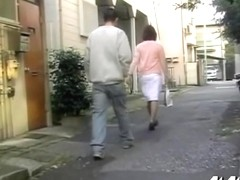 Right after shopping and on her way home skirt sharking vid