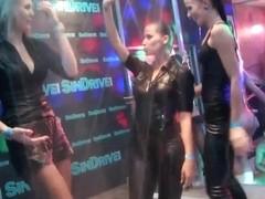 Wet lesbians dancing erotically