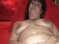 Granny enjoys a huge sex toy