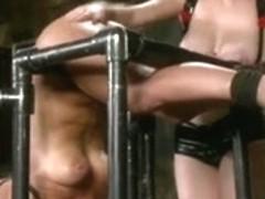 blond slave teased by her Mistress