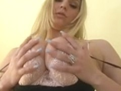 Breasty Blond Makes Boy-Friend Cum Twice