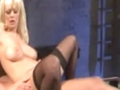 BLOND DOXY ACQUIRES NAILED ON POOL TABLE