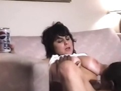 Hawt mamma brunette hair with ideal juggs can't live without many dicks