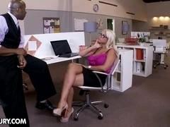 Blond Bridgette goes black