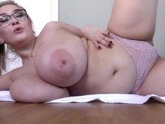 Lana M is a big titted, blonde honey who likes to pose topless, just for fun