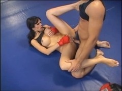 Shy love screwed in boxing ring