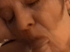 My Floozy wife engulfing strangers ramrod