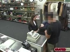 Horny Sexy Steward gets pawned hardcore style