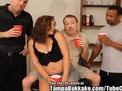 Nice Booty Teen Slut Bukkake Bang!