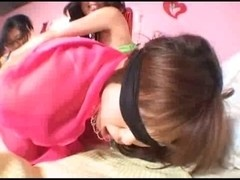 Japanese lesbians in wicked action with toys