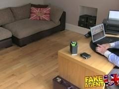 FakeAgentUK: Italian and British threesome in fake casting