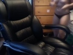 Busty immature with a dildo webcam video