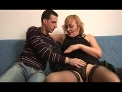 Sexy plump mature woman