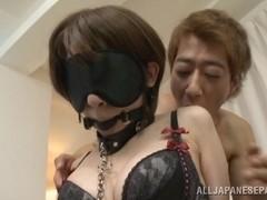 Yukina amazing Asian milf enjoys slave bondage game