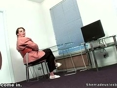 Teacher wanted to see two girls fucking passionately.