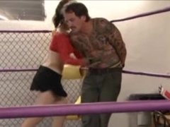 Brutal Babe Beat down