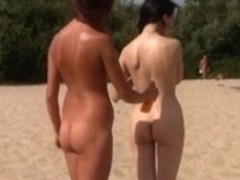 Raven haired goddess nudist shows off her body