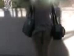 Up skirt camera filmed an awesome ass of a slut