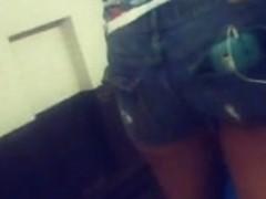 young ebony booty shorts