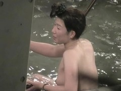 Hottest Asian beauty laughing naked in the sauna pool nri085 00