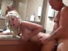 Cougar Christie Gets done in the Bathroom