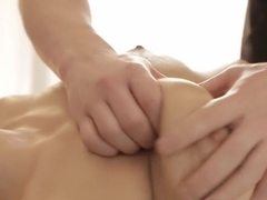 Cute massage girl in ecstacy