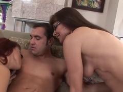 Hottest pornstars Nikki Hunter and Alexandra Silk in crazy hairy, facial porn scene