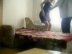 Russian teens caught fucking on hidden webcam