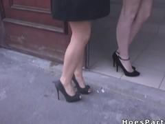 Friends fucking two amateur babes