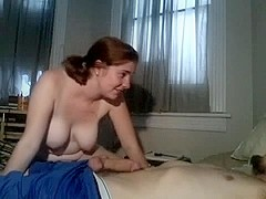 Cute wife sucking POV getting his hot cum on face