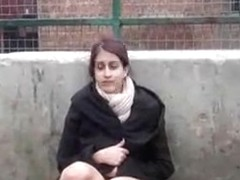Indian Non-Professional Legal Age Teenager Zarina Masood Masturbating In Public
