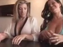 Big boob strip poker FFM threesome