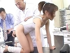 Kinky anal probing and sex toy plunging Emi Takanashi