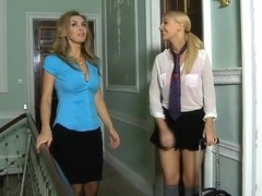 Hottest pornstars Jess West and Katie K. in exotic blonde, small tits adult movie