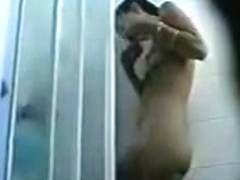 Hidden shower cam catches her